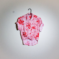 Vintage Tropical Hawaiian Button Up! Womens Size Small