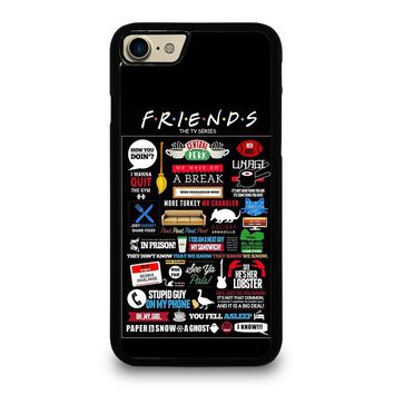 POSTERHOUZZ FRIENDS TV SHOW iPhone 4/4S 5/5S/SE 5C 6/6S 7 8 Plus X Case
