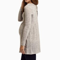 Mocha-Heathered-Knit-Open-Back-Maternity-Tunic
