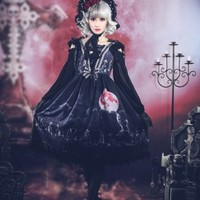 Broken Doll ~Moon Wolf~ Lolita Jumper Dress - My Lolita Dress
