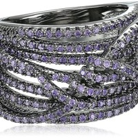 nOir Jewelry Violet Pave Knot Ring, Size 7