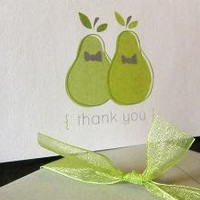 Perfect Pearsame sex weddingThank you cardsSet of 10 by littletoad