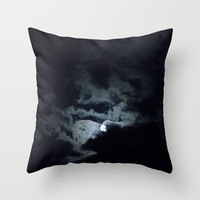cloudy night Throw Pillow by Marianna Tankelevich