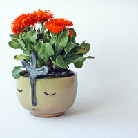 Smiling Vase - wheel thrown, handmade ceramics, one of a kind vase