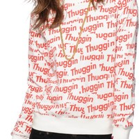 Married To The Mob Thuggin Sticker Crew Neck Sweatshirt