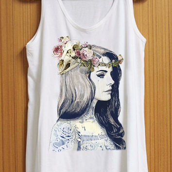 lana del rey tattoed tank top for womens and mens heppy feed