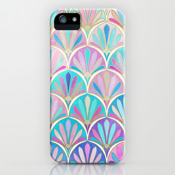 Glamourous Twenties Art Deco Pastel Pattern iPhone & iPod Case by Micklyn