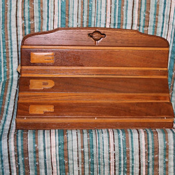 Earl Gresh Wooden 1940s clutch handcrafted purse, St. Petersburg, Florida, C53