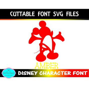 Disney Font SVG, Mickey Mouse font,fonts,Circle Monogram, Circle svg,circle monogram png,monogram circle, Cricut Designs,Silhouette Designs
