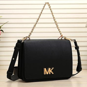 MICHAEL KORS Women Fashion Leather Chain Satchel Shoulder Bag Handbag Crossbody