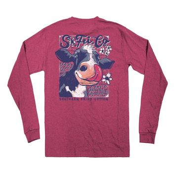 Cow Lick Long Sleeve Tee by Southern Fried Cotton