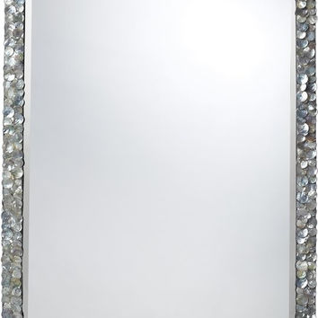 "0-000510>24x36"" Island Falls Mirror Silver Mother Of Pearl"