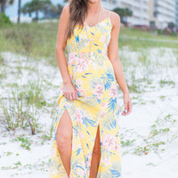 Through The Jungle Maxi Dress, Yellow