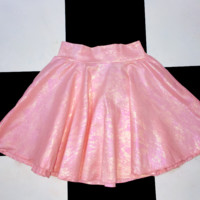 SWEET LORD O'MIGHTY! MILKMAID SKIRT IN SHIMMERY PINK