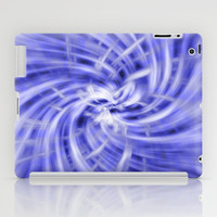Blue Swirl Abstract iPad Case by Tigerlynx