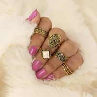 Gift New Arrival Jewelry Stylish Shiny Accessory Turquoise Hollow Out Ring [11762576399]