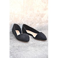 Hold Me Close Flats - Black