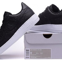 LMFON Nike Air Force 1 718152-009 Black For Women Men Running Sport Casual Shoes Sneakers