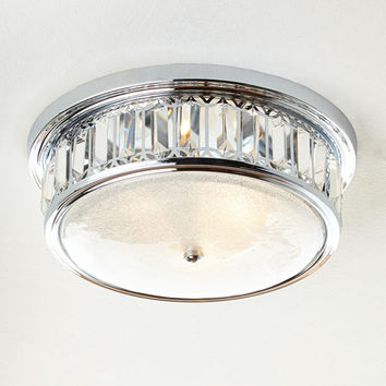 Silvery 3-Light Flush-Mount Ceiling Fixture