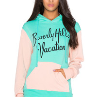 Wildfox Couture Beverly Hills Vacation Hoodie in Mint Chip