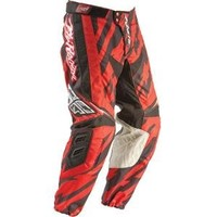 FLY Racing Kinetic Pants Adult & Youth (28short, Black/Red)