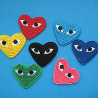 Set of 7 pcs iron-on Embroidered Patch play 1.5 x 1.38 inch