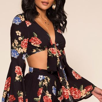 Ophelia Floral Crop Top