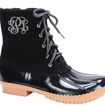 Desirae Duck Boots - Black