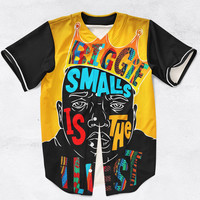 Biggie Smalls is the Illest - Notorious BIG Baseball Jersey Custom Made Fashion 3D Sublimation Print All Sizes
