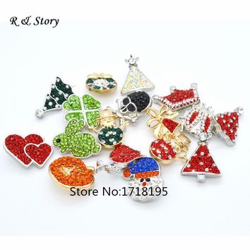 Fashion Crystal Mixed Snap Buttons Hot Sale Rhinestone Snap buttons Jewelry DIY Charm SB_1024-1