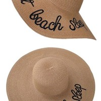 Eat Beach Sleep Floppy Beach Hats