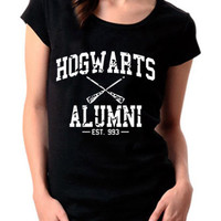 New Hogwarts Alumni EST 993 Logo Harry Potter Wear Women Cotton T Shirt S-XXL - 12WHP