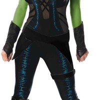 guardians of the galaxy gamora adult costume - small
