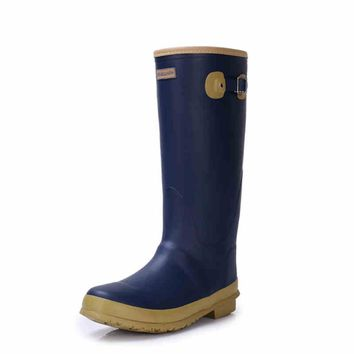 Men's rubber rain boots fishing hunting boots wellington rubber boots waterproof  high quality wear shoes for man