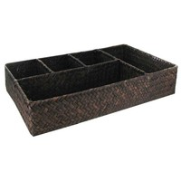 Straw Basket with 5-Compartments | Hobby Lobby