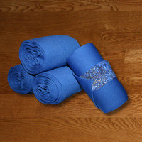 Equine Standing Wraps/Royal Standing Wraps w/Blue Galaxy Velcro Straps by Brax Designs