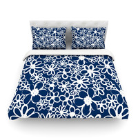 "Emine Ortega ""Daisy Lane"" Twin Cotton Duvet Cover - Outlet Item"