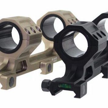 Tactical GE 25mm 30mm Dual Ring Scope Mount Anti Cant Spirit Bubble Level Ring Mount Fit 20mm Picatinny Rail