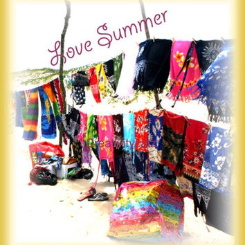 Love Summer Sarong Holiday Graphic Art Printable And Read To Download for Your Bungalow Wall Or Teen Pad.