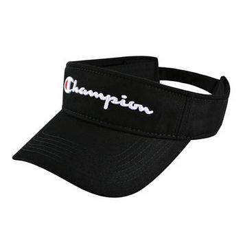 Champion New fashion embroidery letter couple cap hat Black