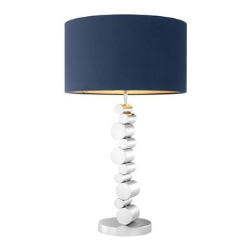 Silver Base Blue Shade Table Lamp | Eichholtz Cylindre