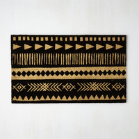 Boho Crosshatch a Plan Doormat by ModCloth