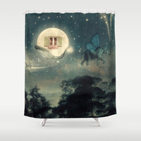 Moon Dream Shower Curtain by Paula Belle Flores