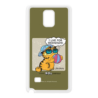 I Live for Weekends 2007-0030 White Silicon Rubber Case for Galaxy Note 4 by Garfield