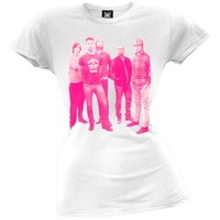 Maroon 5 - Pink Halftone Photo Juniors T-Shirt