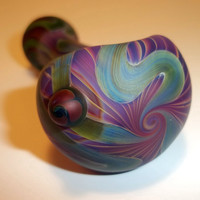 Glass Pipe, Sandblasted Full Color Beautiful Pipe, One of a Kind, Cgge Team, Ready for shipping