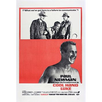 Vintage Cool Hand Luke Movie Poster// Classic Movie Poster//Movie Poster//Poster Reprint//Home Decor//Wall Decor//Vintage Art