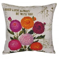 Vintage Chrysanthemum Pillow