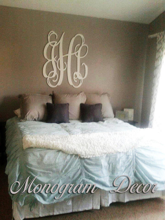 36 inch wooden monogram  wall letters  from monogramdecornest on