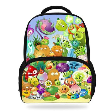 Newest Hot Game Plants VS Zombie Print Backpacks For Teenage Girls School Bags Orthopedic Cartoon Backpack For Kids Boys